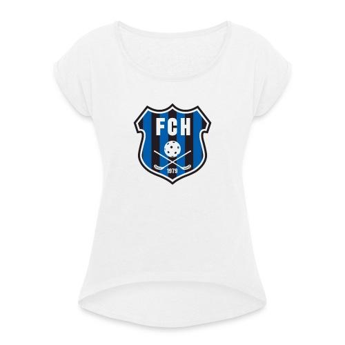 FCH - T-shirt med upprullade ärmar dam