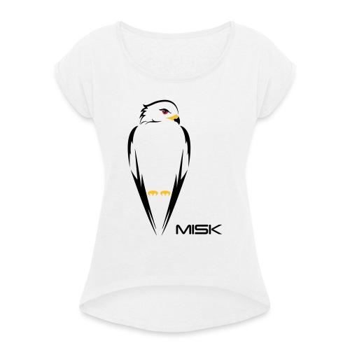 MISK - Frauen T-Shirt mit gerollten Ärmeln
