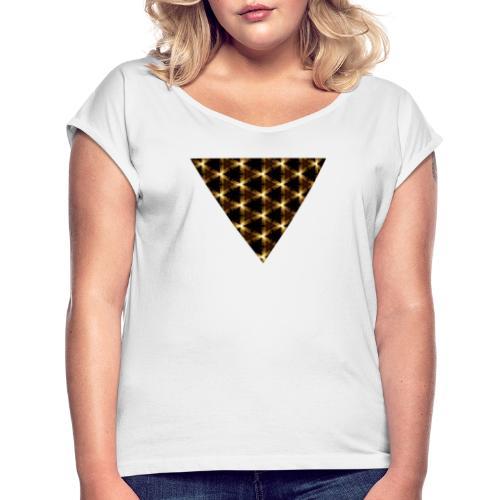 Triangle kaleidoscopique - T-shirt à manches retroussées Femme