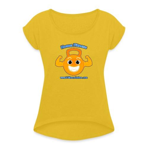 Logo 01Musculation Home Fitness Kettlebell - T-shirt à manches retroussées Femme