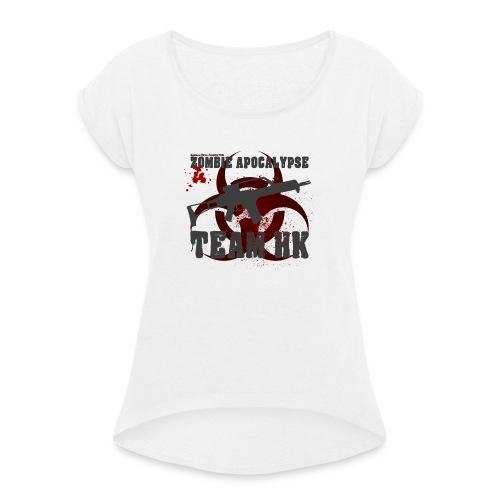 Zombie Apocalypse Team H&K - Frauen T-Shirt mit gerollten Ärmeln