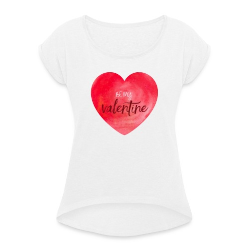 Cœur st.valentin - T-shirt à manches retroussées Femme