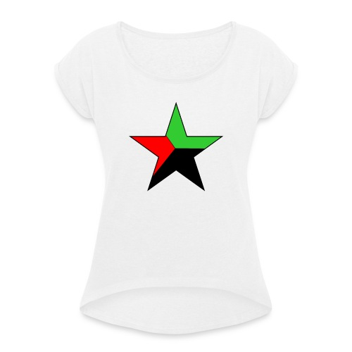 etoile martinique - T-shirt à manches retroussées Femme