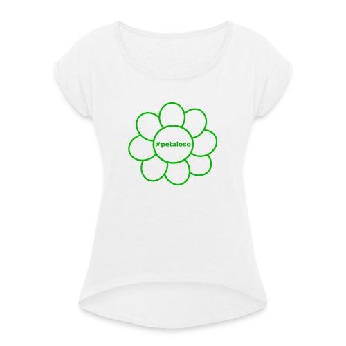 #petaloso - Maglietta da donna con risvolti