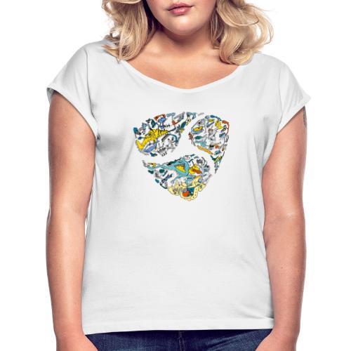NEM cryptocurrency logo - Vrouwen T-shirt met opgerolde mouwen