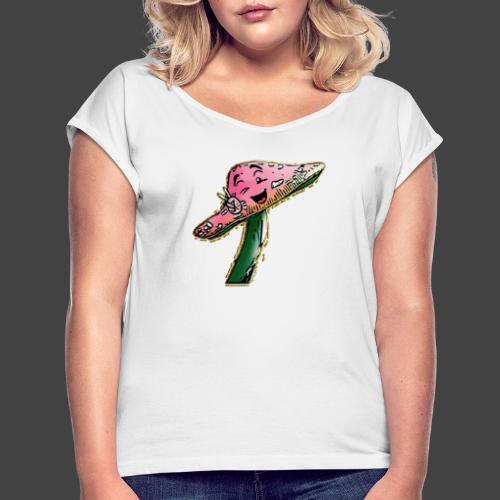 Finkianer Pilz - Frauen T-Shirt mit gerollten Ärmeln