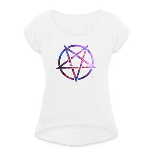 Cosmic Pentagramm - Women's T-Shirt with rolled up sleeves