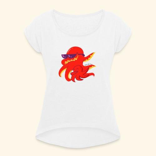 Dabbing Kraken Dab Dance and baby - Camiseta con manga enrollada mujer