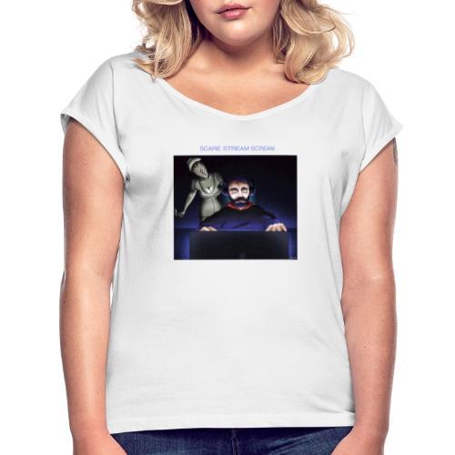 motif6 - T-shirt à manches retroussées Femme