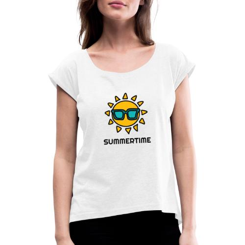 SUMMERTIME - Women's T-Shirt with rolled up sleeves