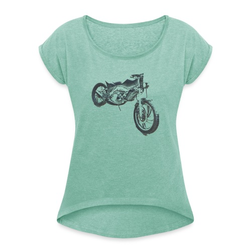 bike (Vio) - Women's T-Shirt with rolled up sleeves
