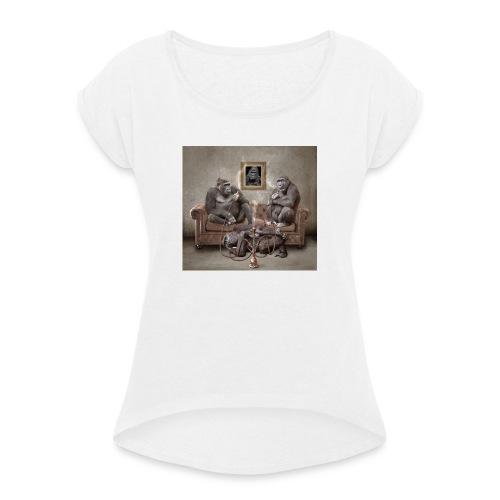 1225840 L - Frauen T-Shirt mit gerollten Ärmeln