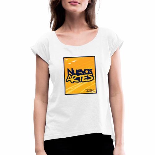 Nuevas Artes - Camiseta con manga enrollada mujer