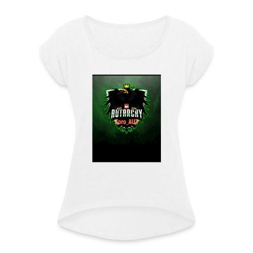 PicsArt 06 16 08 05 03 - Frauen T-Shirt mit gerollten Ärmeln