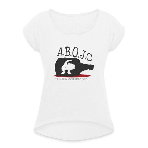A.B.O.J.C - T-shirt à manches retroussées Femme