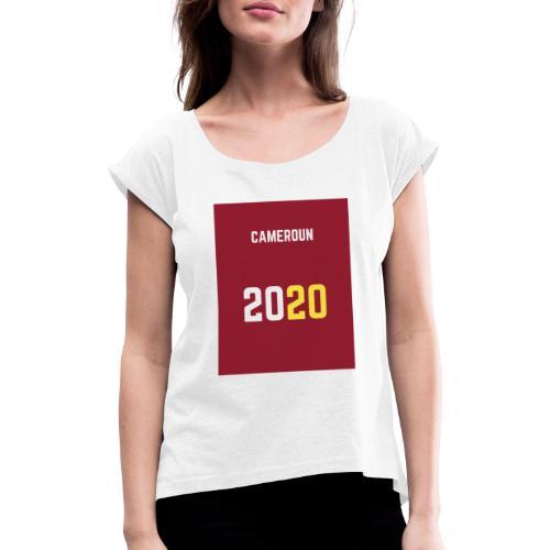 valentine s day 1 - T-shirt à manches retroussées Femme