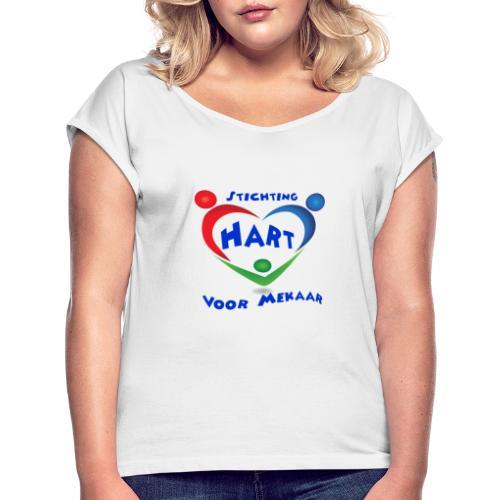 HVM Support - Vrouwen T-shirt met opgerolde mouwen