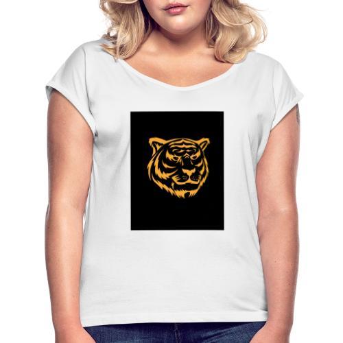 gold tiger - Camiseta con manga enrollada mujer