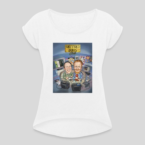 The Retro Games Club - Women's T-Shirt with rolled up sleeves