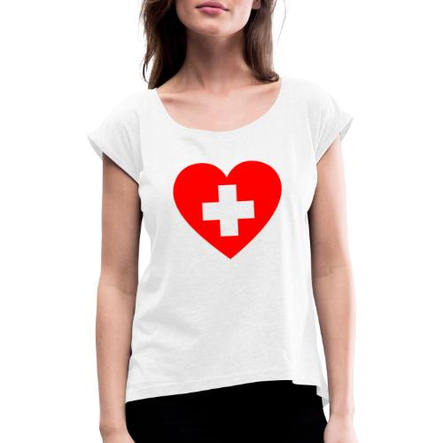 first aid - Women's T-Shirt with rolled up sleeves