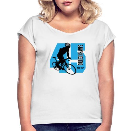 Wielersport - Vrouwen T-shirt met opgerolde mouwen