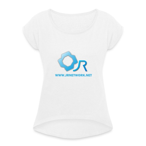 Official Logo - Women's T-Shirt with rolled up sleeves