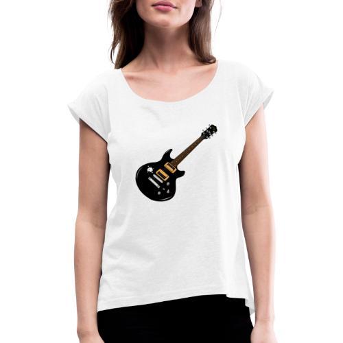 Guitar - Frauen T-Shirt mit gerollten Ärmeln
