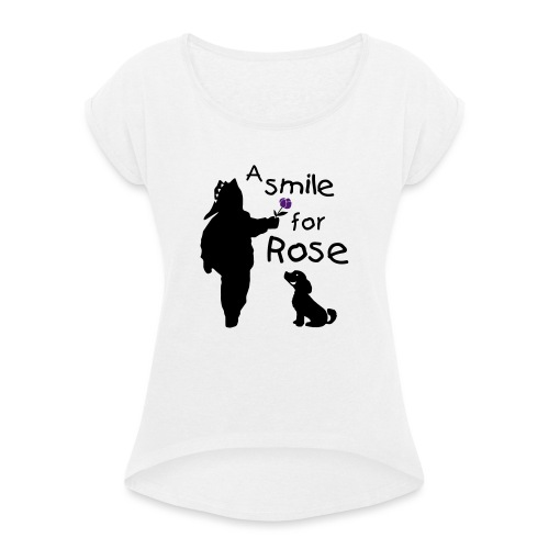 A Smile for Rose - Maglietta da donna con risvolti