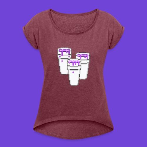 Purple - Maglietta da donna con risvolti