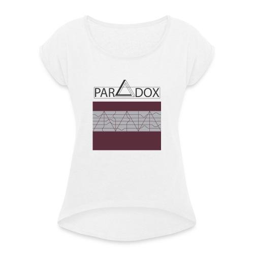 Iphone case jpg - Vrouwen T-shirt met opgerolde mouwen
