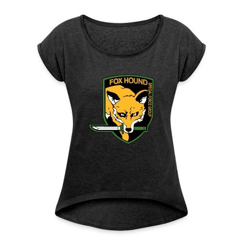 Fox Hound Special Forces - Naisten T-paita, jossa rullatut hihat