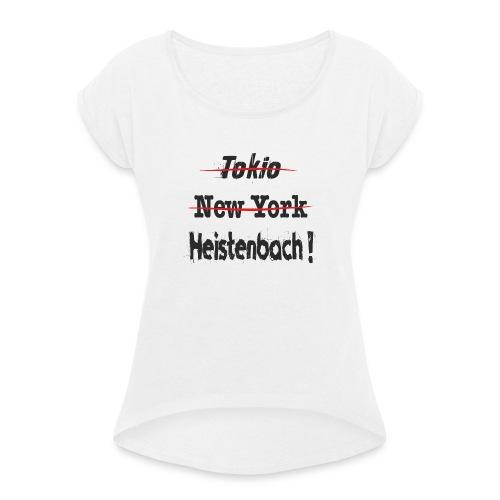 65558 Heistenbach - Frauen T-Shirt mit gerollten Ärmeln