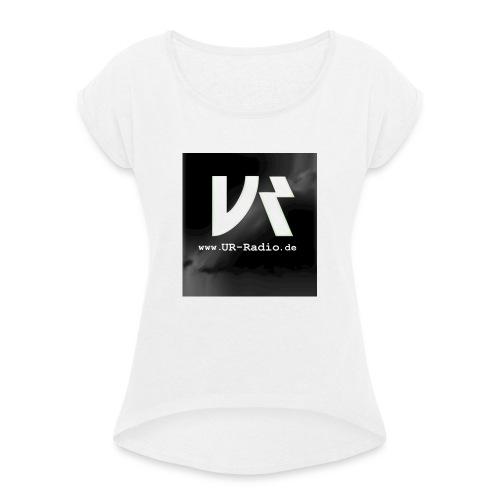 logo spreadshirt - Frauen T-Shirt mit gerollten Ärmeln
