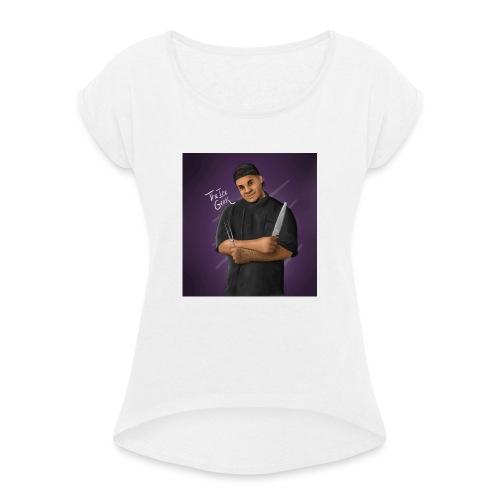 anjail8 - T-shirt à manches retroussées Femme