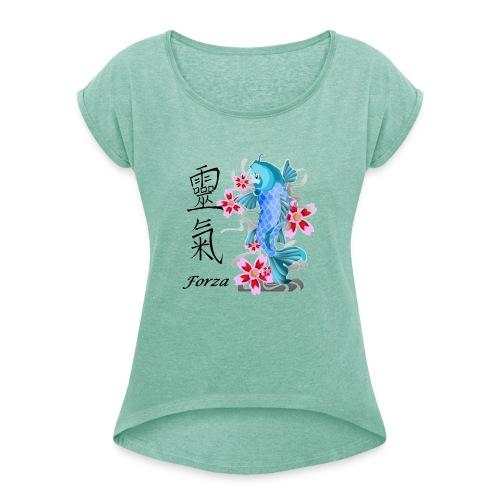 FORZA KANJI - Maglietta da donna con risvolti