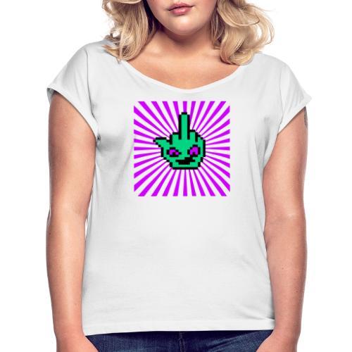 Square Logo - Frauen T-Shirt mit gerollten Ärmeln