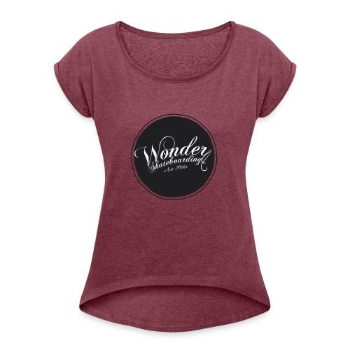 Wonder T-shirt - oldschool logo - Dame T-shirt med rulleærmer