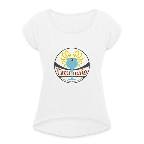 tavernullo - Maglietta da donna con risvolti