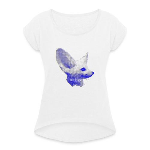 fennec - Frauen T-Shirt mit gerollten Ärmeln