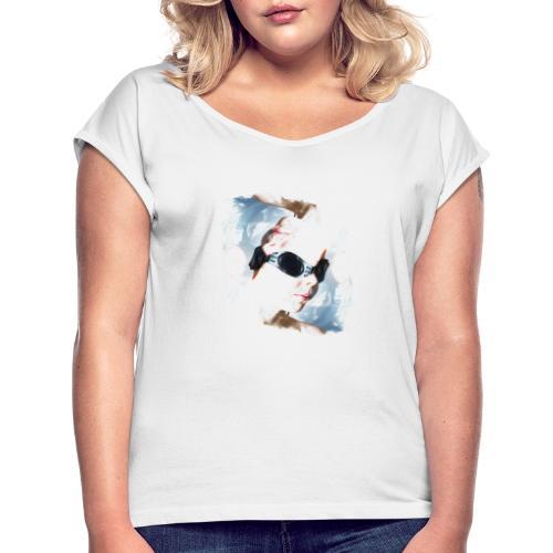 Vivre à l'envers - T-shirt à manches retroussées Femme