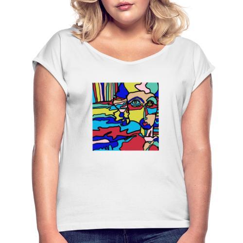 o - Maglietta da donna con risvolti