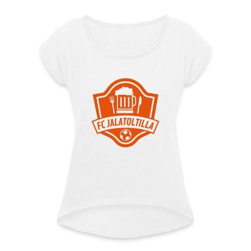 LOGO2 - Camiseta con manga enrollada mujer