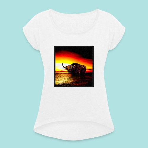 Wandering_Bull - Women's T-Shirt with rolled up sleeves