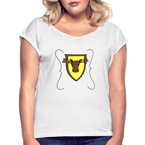 Moosebrackets - Women's T-Shirt with rolled up sleeves