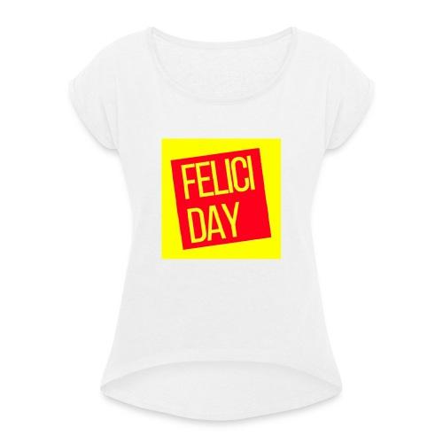 Feliciday - Camiseta con manga enrollada mujer