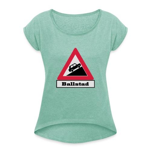 brattv ballstad a png - T-skjorte med rulleermer for kvinner