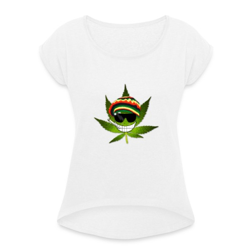 GermanWeedBoys Logo Buttons - Women's T-Shirt with rolled up sleeves