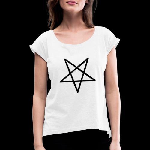 Pentagram2 png - Frauen T-Shirt mit gerollten Ärmeln