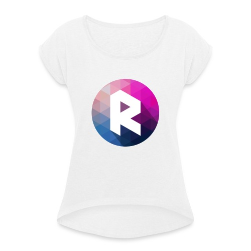 radiant logo - Women's T-Shirt with rolled up sleeves