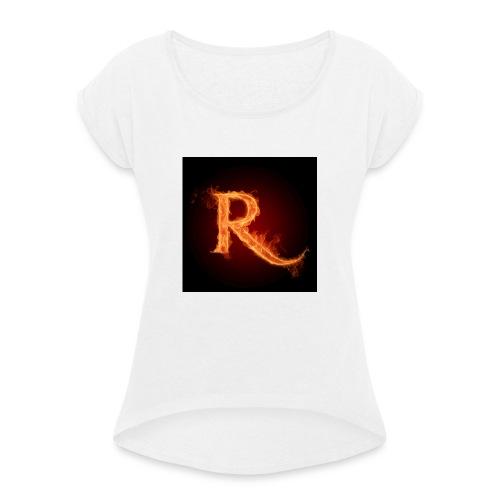 RobTheGamer Pet - Vrouwen T-shirt met opgerolde mouwen